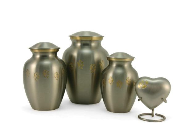 Pewter Paw Cremation Urn