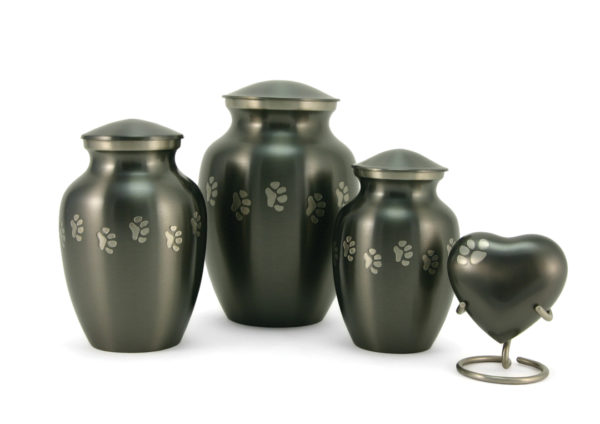 Slate Paw Prints Cremation Urn