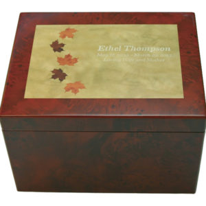 Autumn Leaves Memory Chest Cremation Urn