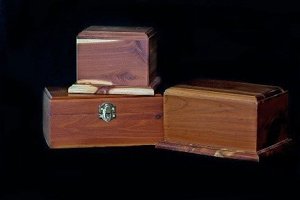Complimentary Cedar Pet Cremation Urn